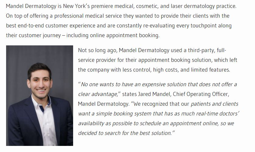SimplyBook.me Demo - Mandel Dermatology