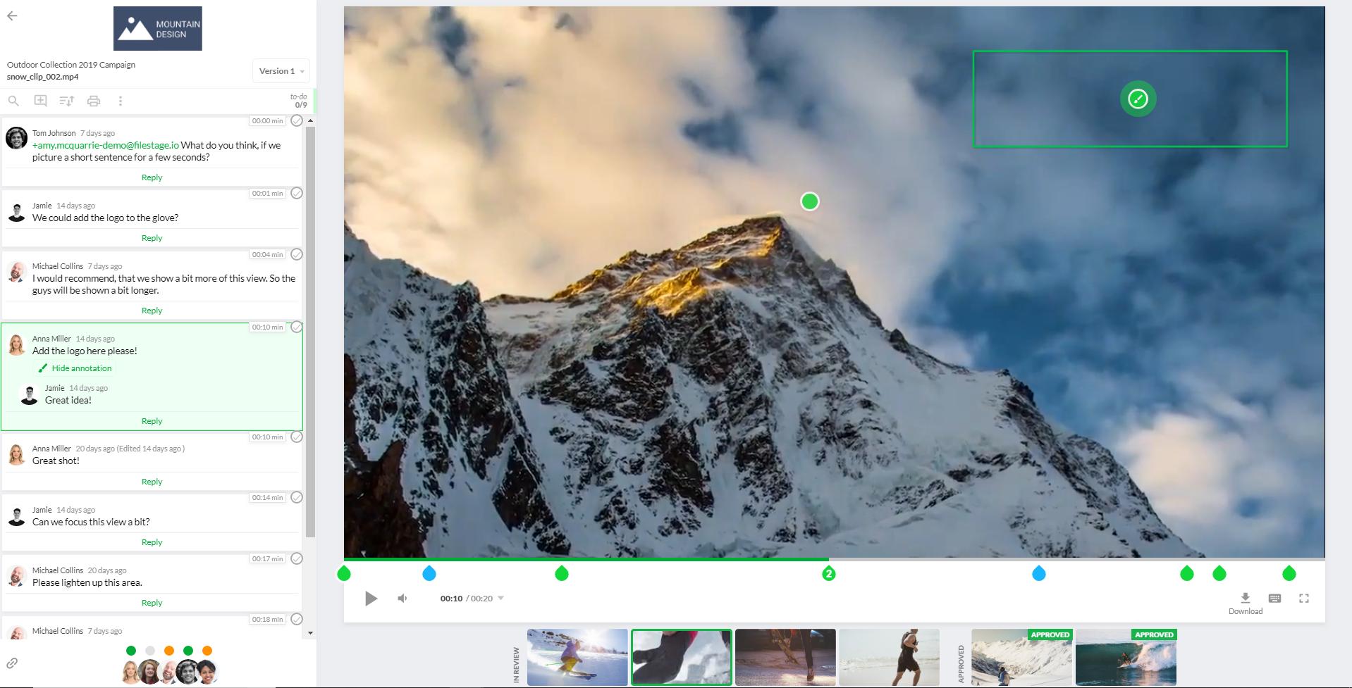 Filestage Demo - Filestage Video View