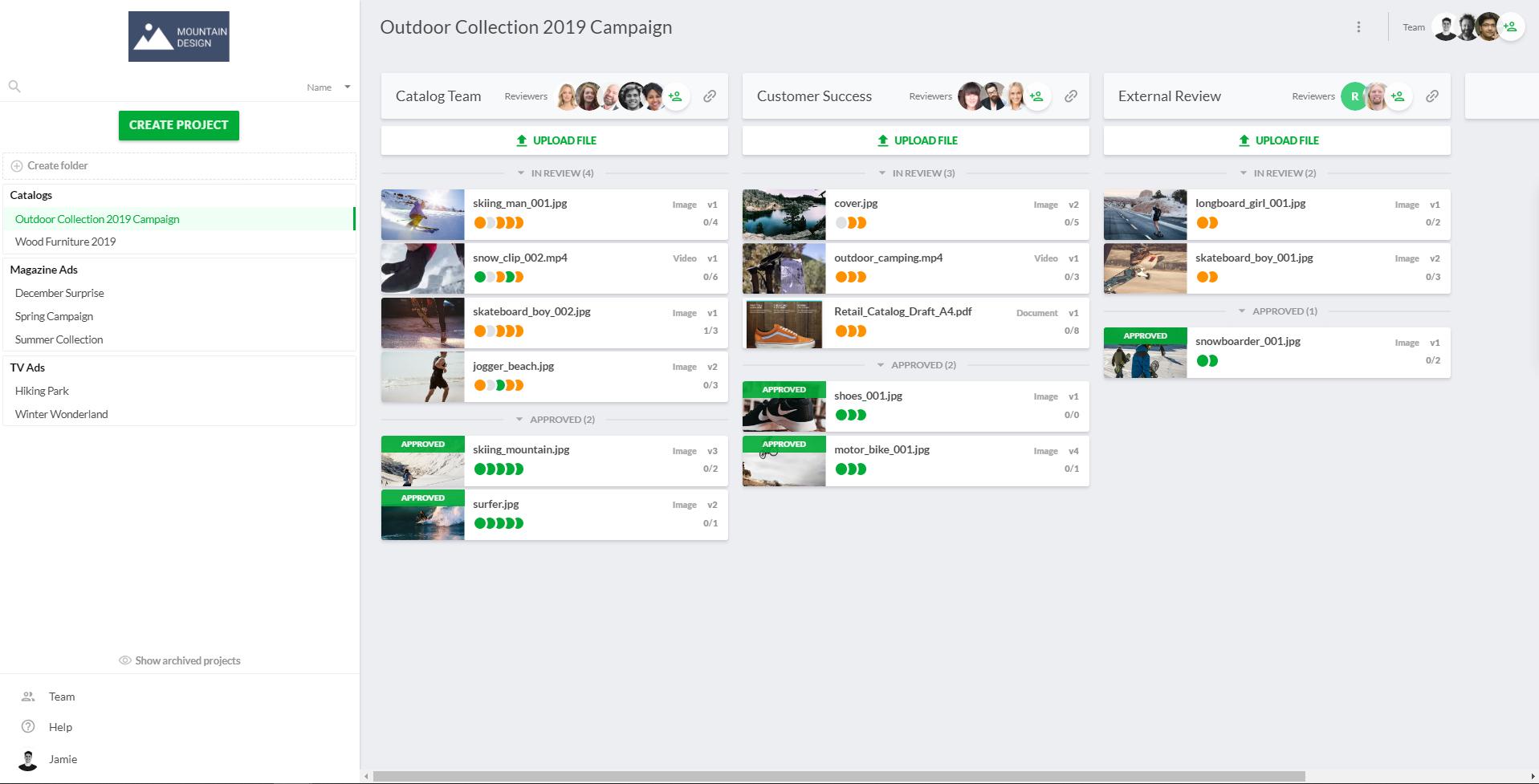 Filestage Demo - Filestage Dashboard