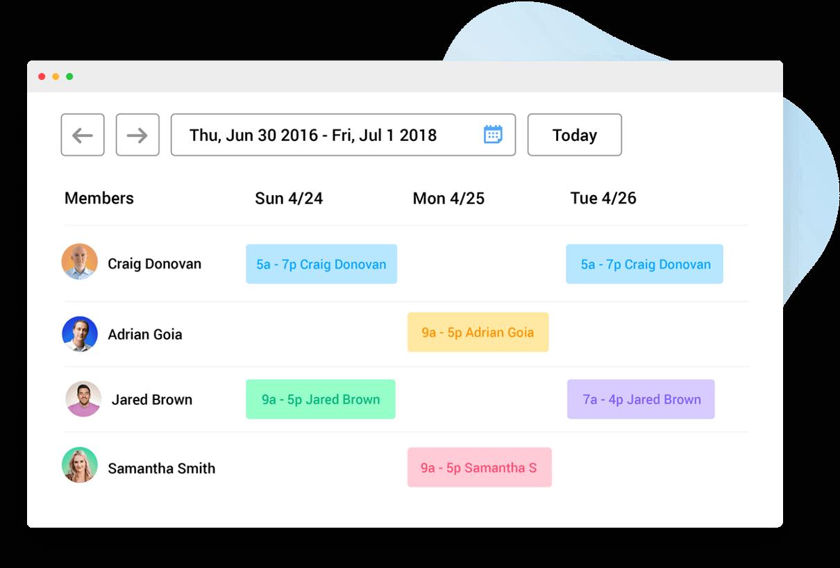 Hubstaff Demo - Team Scheduling