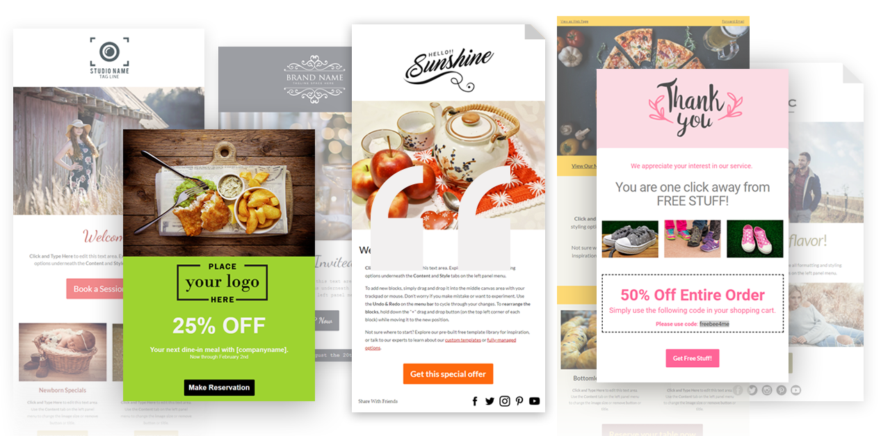 FireDrum Email Marketing Demo - Free email templates