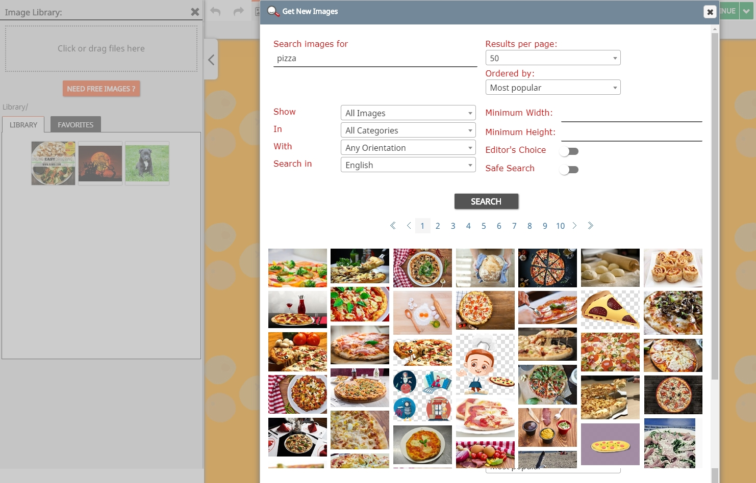 FireDrum Email Marketing Demo - Free image database with image editing tools