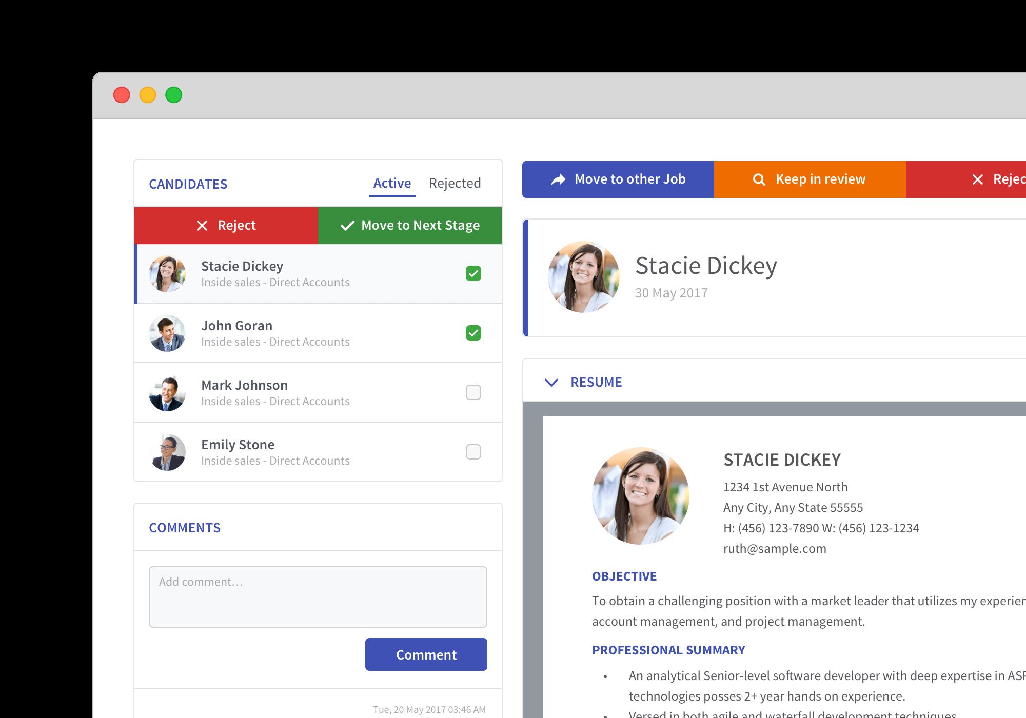 Simplicant Demo - Quick Applicant Screening