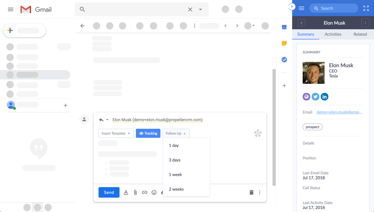 Propeller CRM Demo - Grow Your Pipeline From Inside Gmail