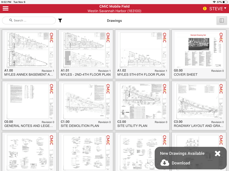 CMiC Demo - CMiC Drawing Management