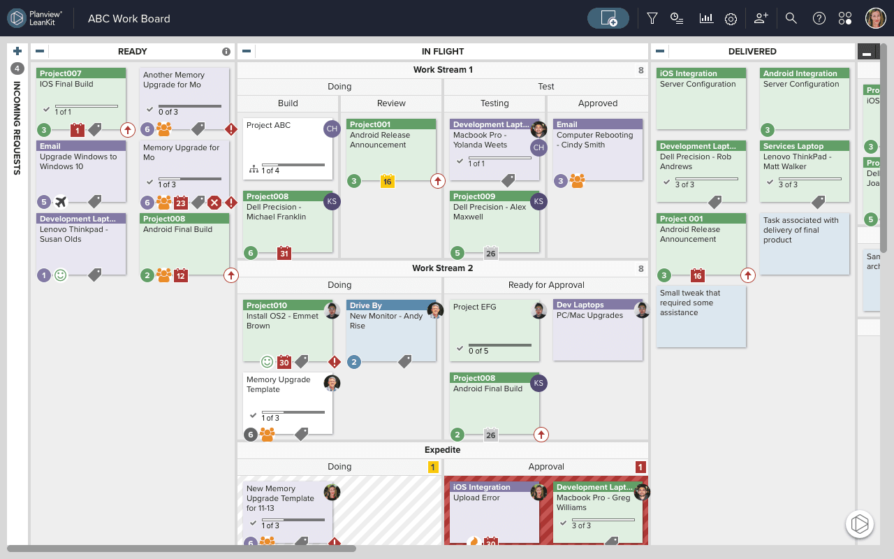 Planview LeanKit Demo - Visualize Your Work and Workflow
