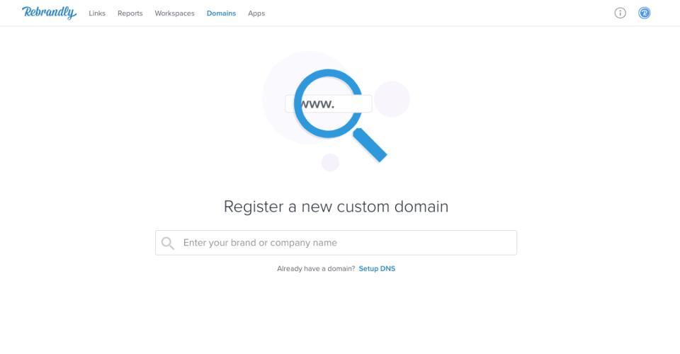 Rebrandly Demo - Rebrandly Domain Search
