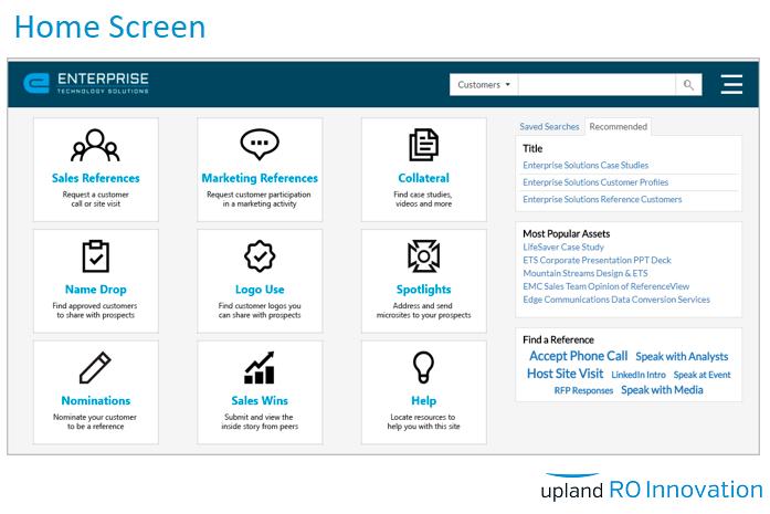 RO Innovation Demo - Home Screen