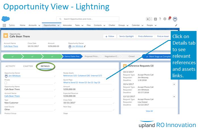 RO Innovation Demo - Salesforce Integration