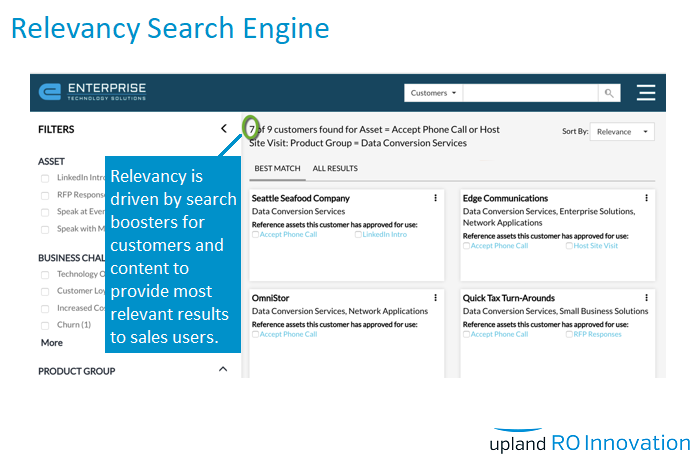 RO Innovation Demo - Relevancy Search Engine
