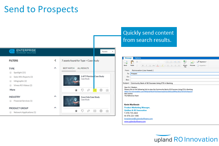 RO Innovation Demo - Send to Prospects