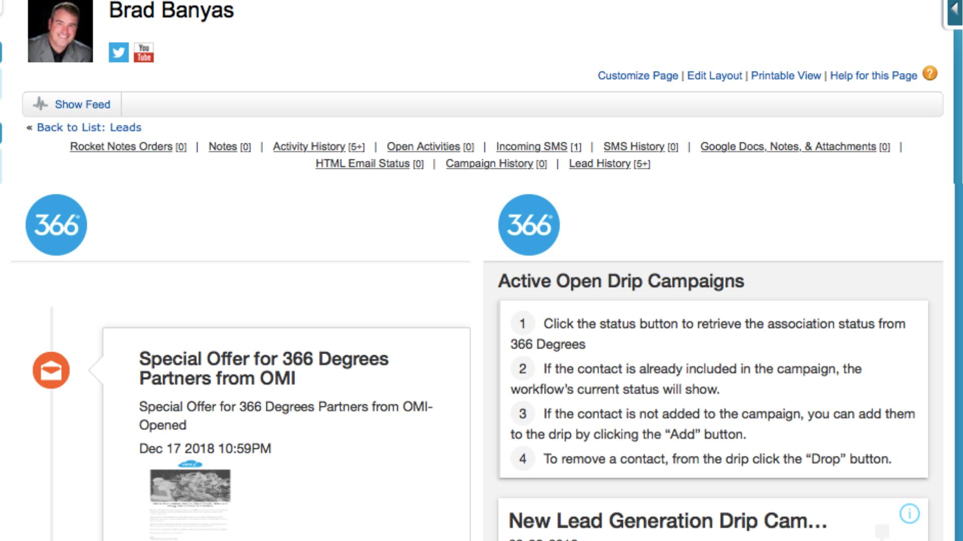 366 Degrees Demo - 366 Activity Stream Salesforce Pushback