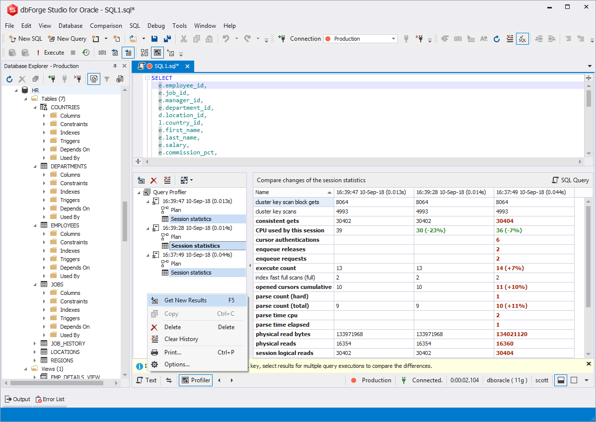 DataGrip vs dbForge Studio for Oracle | G2