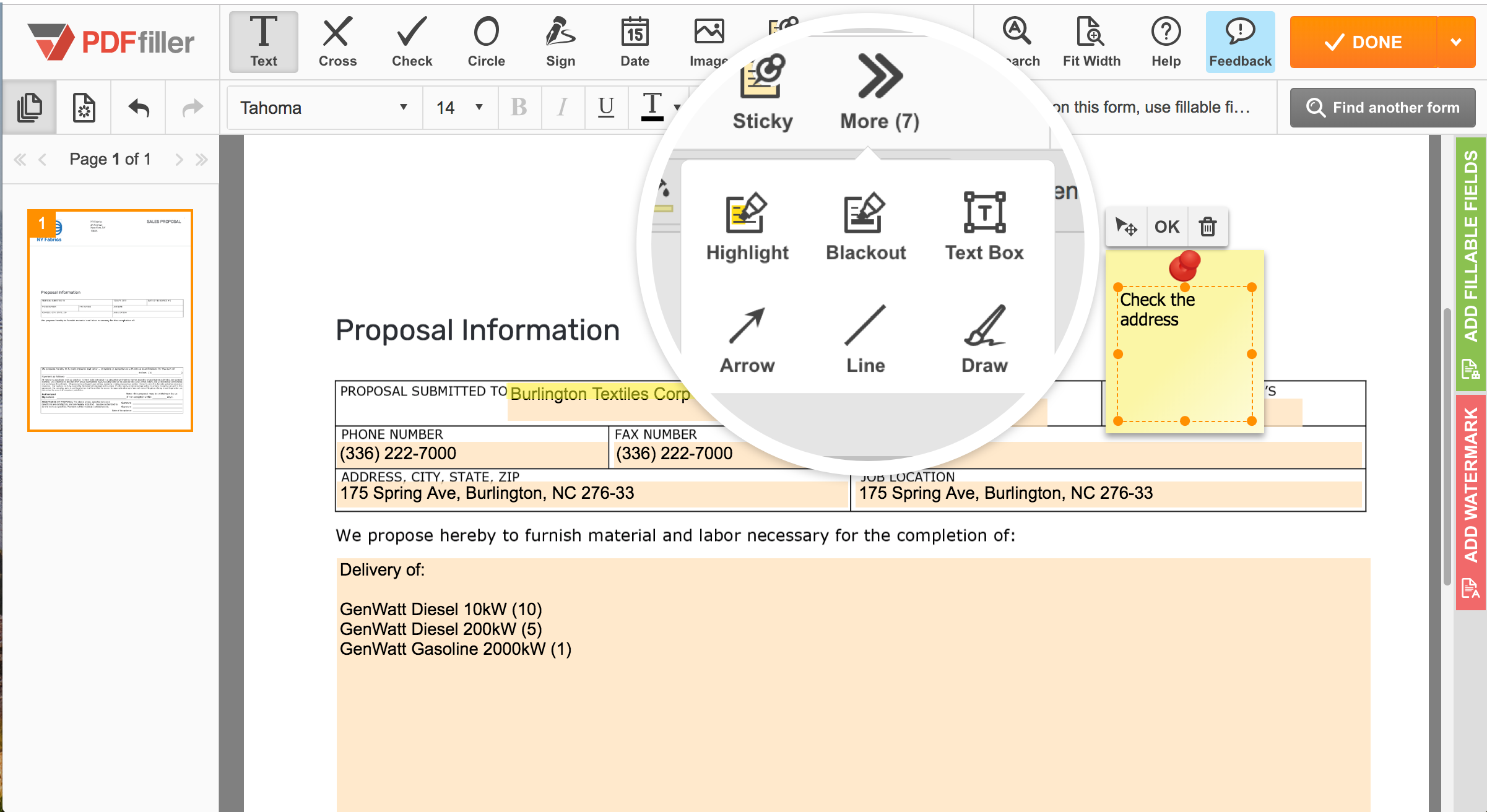 PDFfiller Demo - Edit and annotate PDFs online