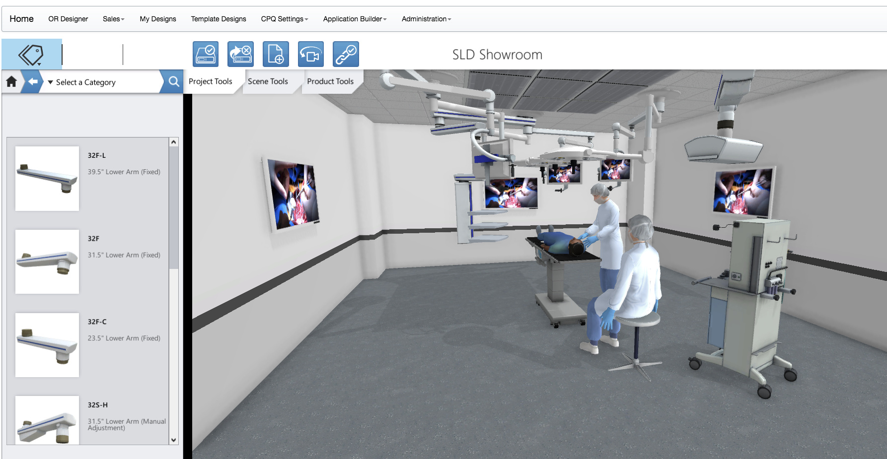 Powertrak CPQ Demo - 3D Product Configurations for Medical Equipment and Room Layouts