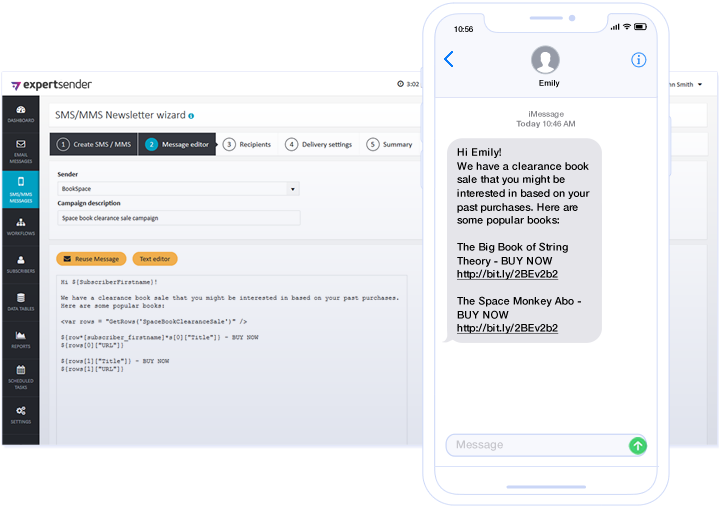 ExpertSender Demo - SMS Channel - SMS Campaign