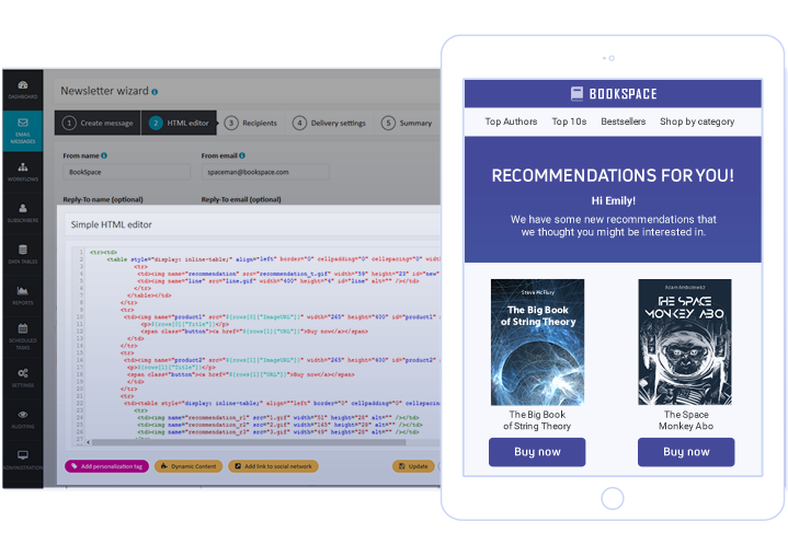 ExpertSender Demo - WEB Channel - Web Product Recommendations