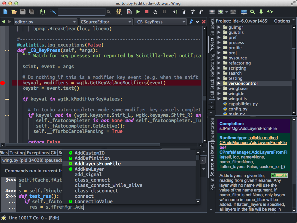 Wing Python IDE Demo - One Dark Display Theme