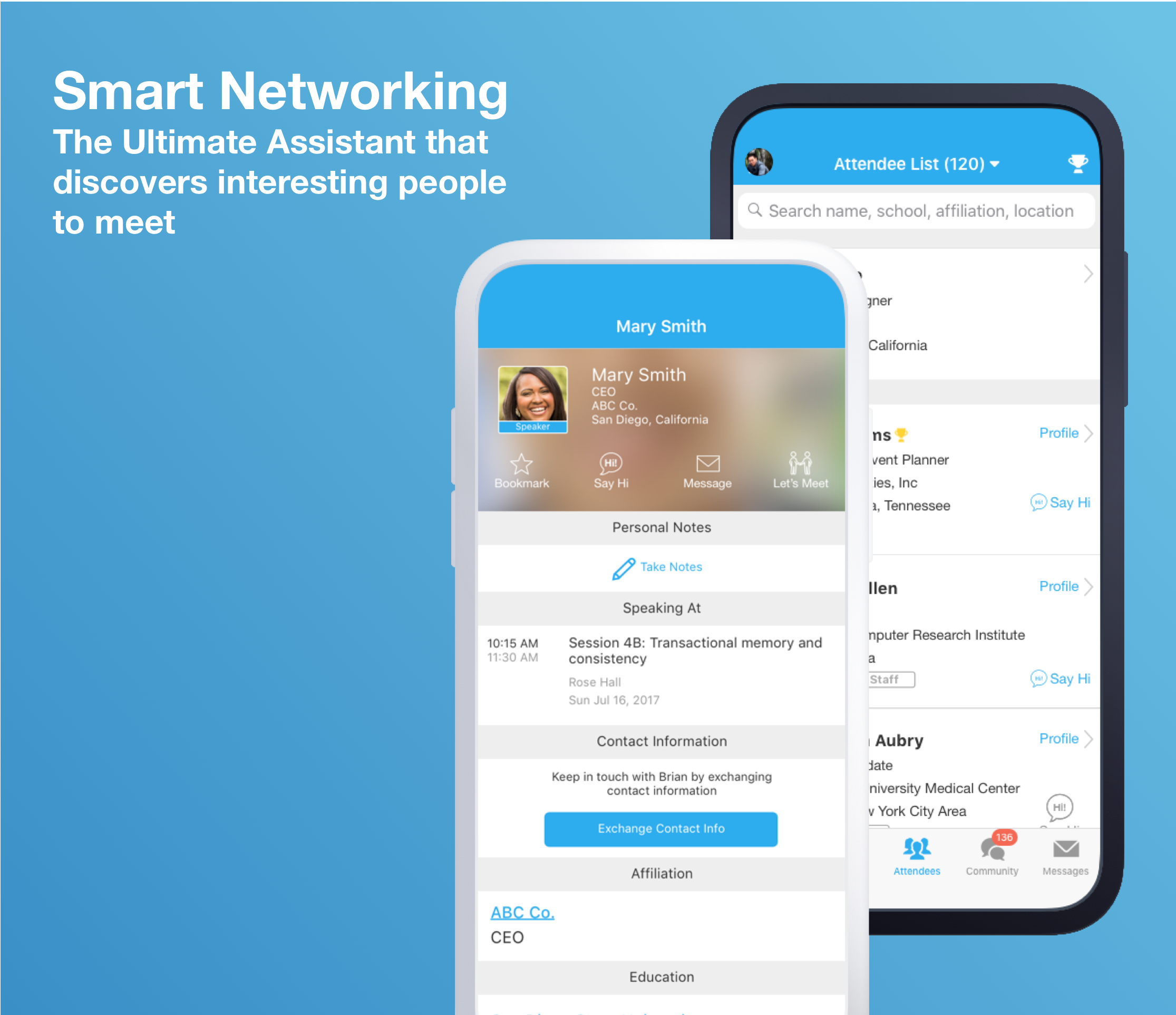 Whova Demo - Smart Networking