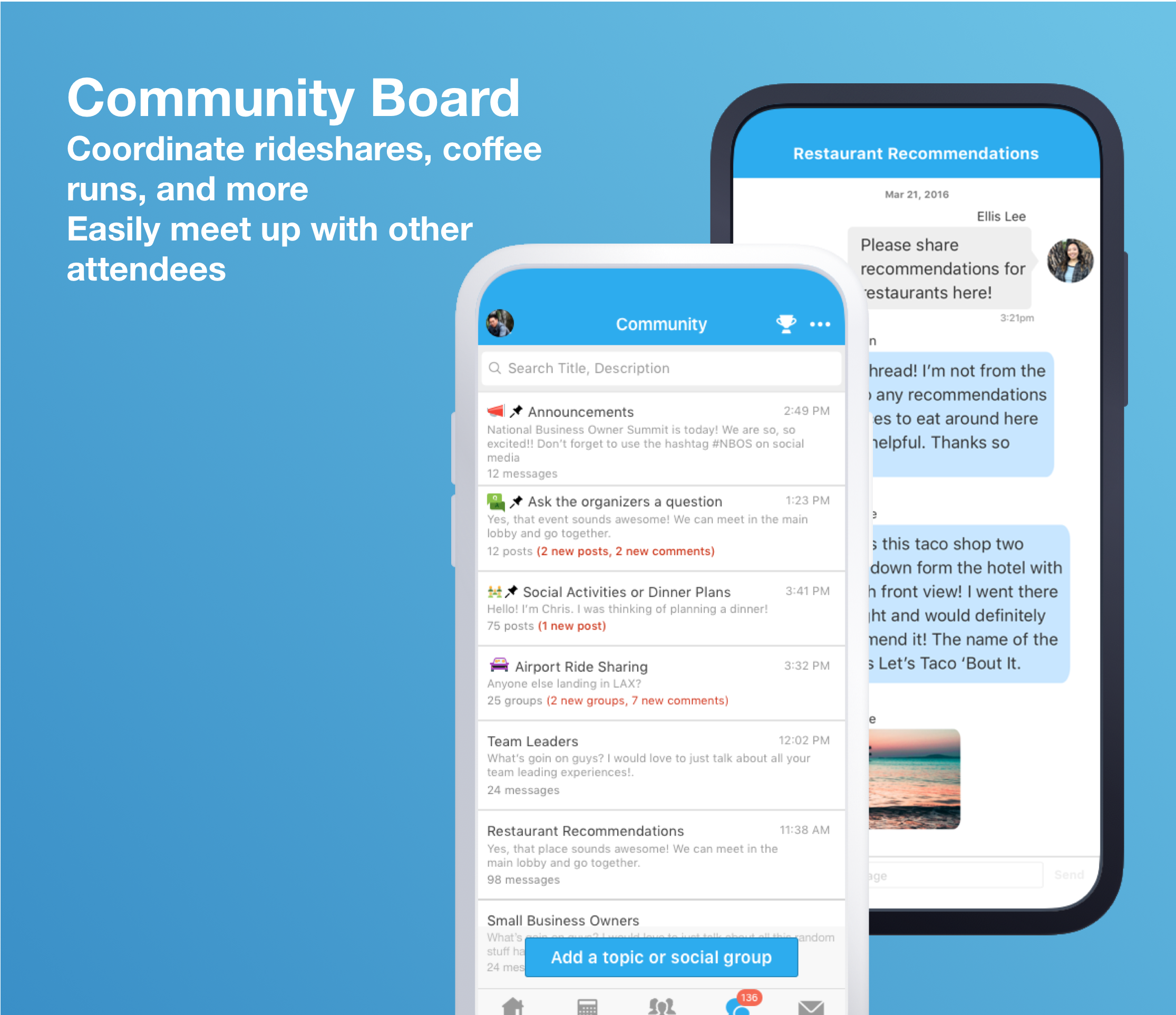 Whova Demo - Community Board