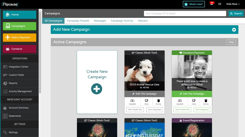 Flipcause Demo - Flipcause Campaign Dashboard