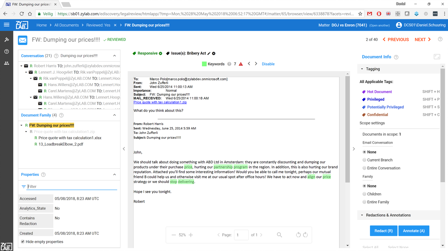 ZyLAB ONE eDiscovery Demo - ZyLAB-Legal-Review.png