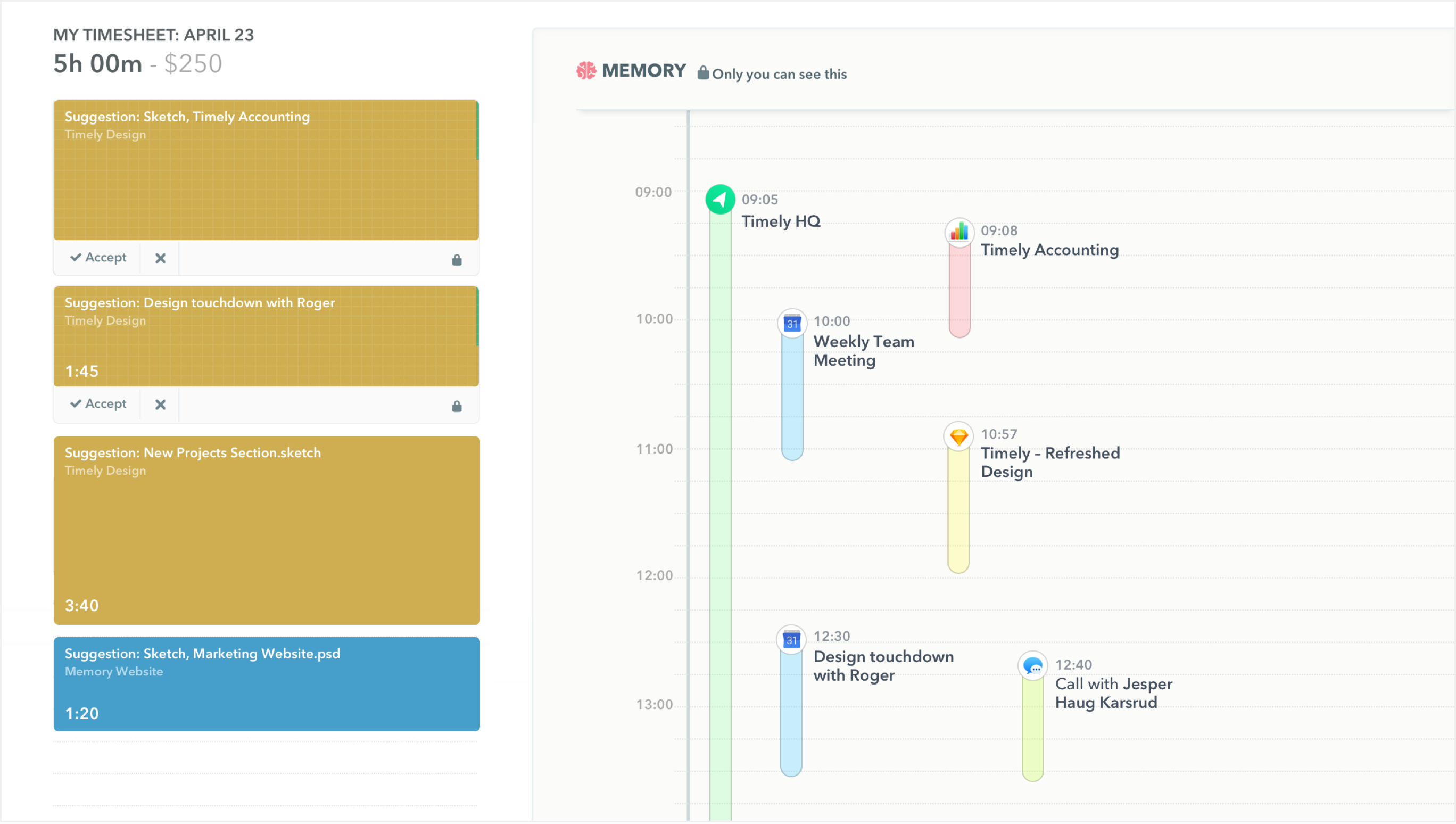 Timely Time Tracking Demo - Automatic Timesheet