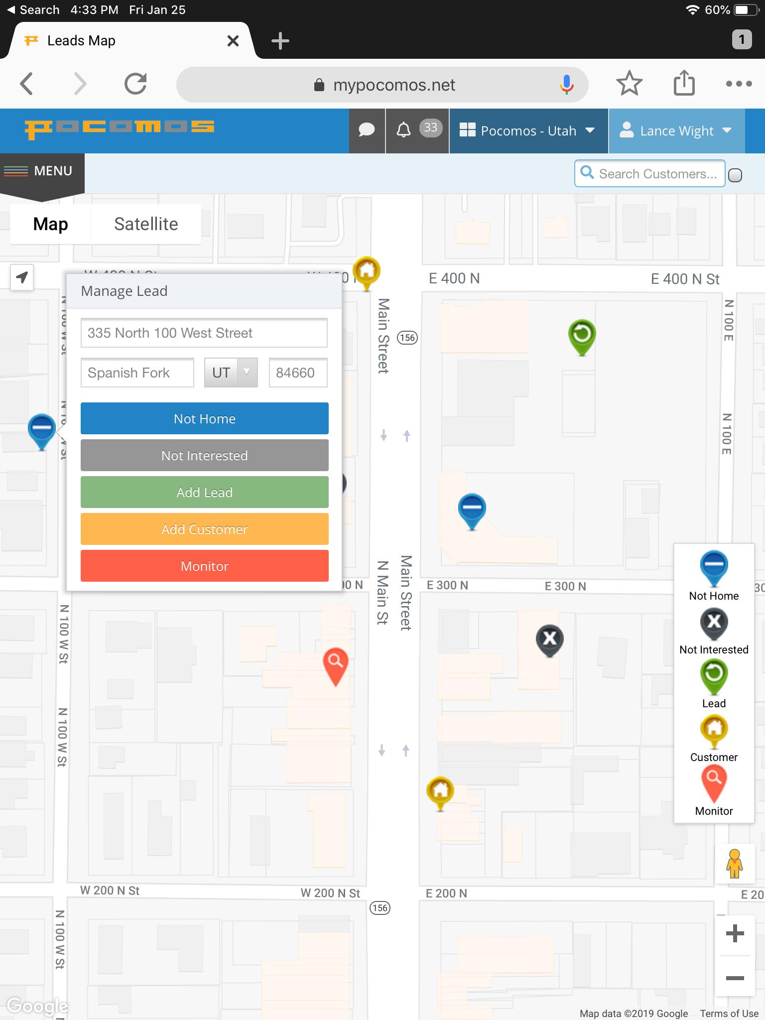 Pocomos Demo - Door-to-door lead tracking