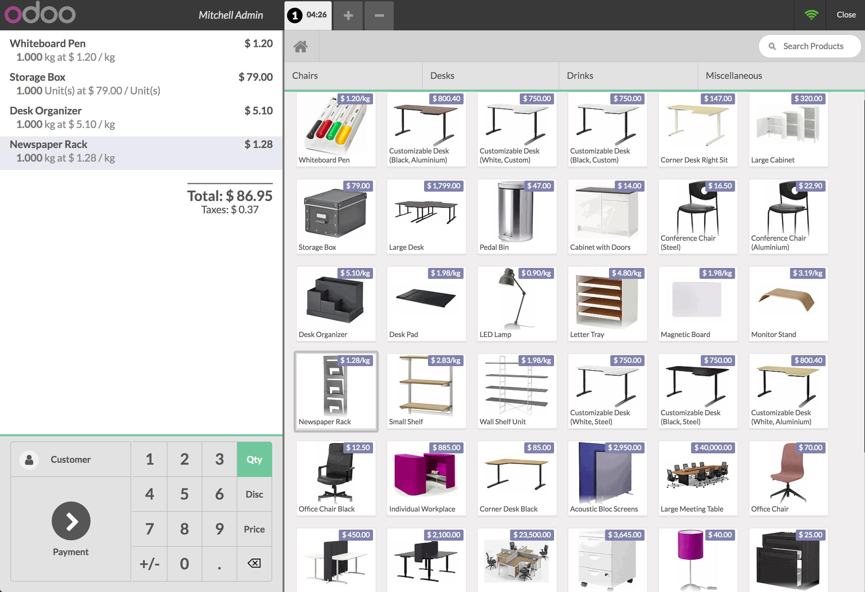 Odoo Point of Sale Demo - Odoo POS Interface