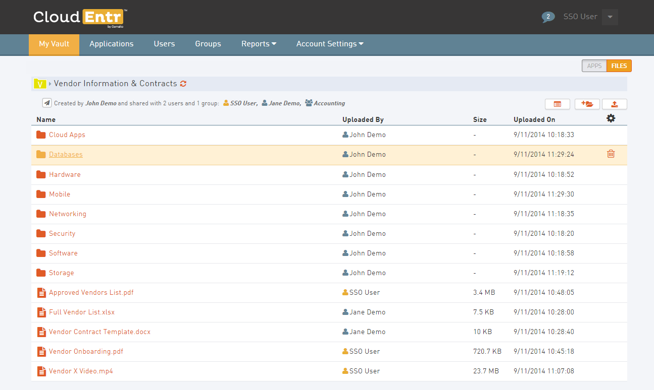 CloudEntr Demo - Secure File Sharing