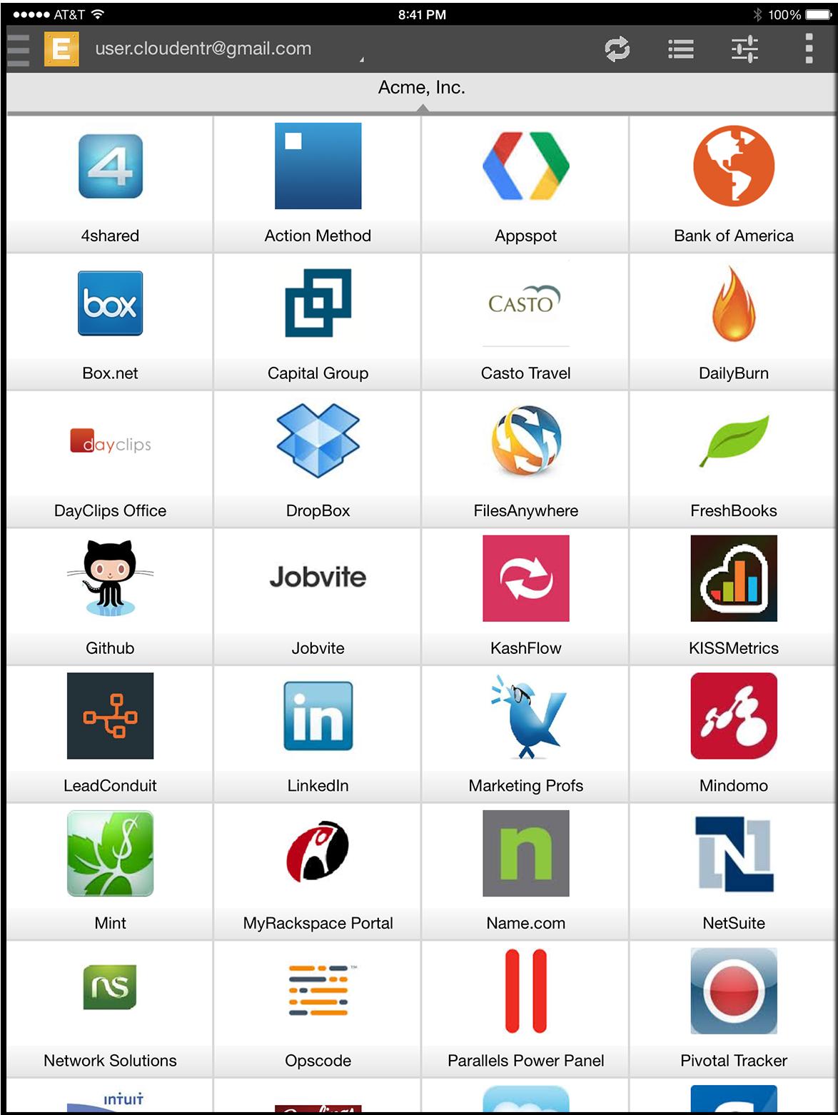 CloudEntr Demo - CloudEntr Mobile Application