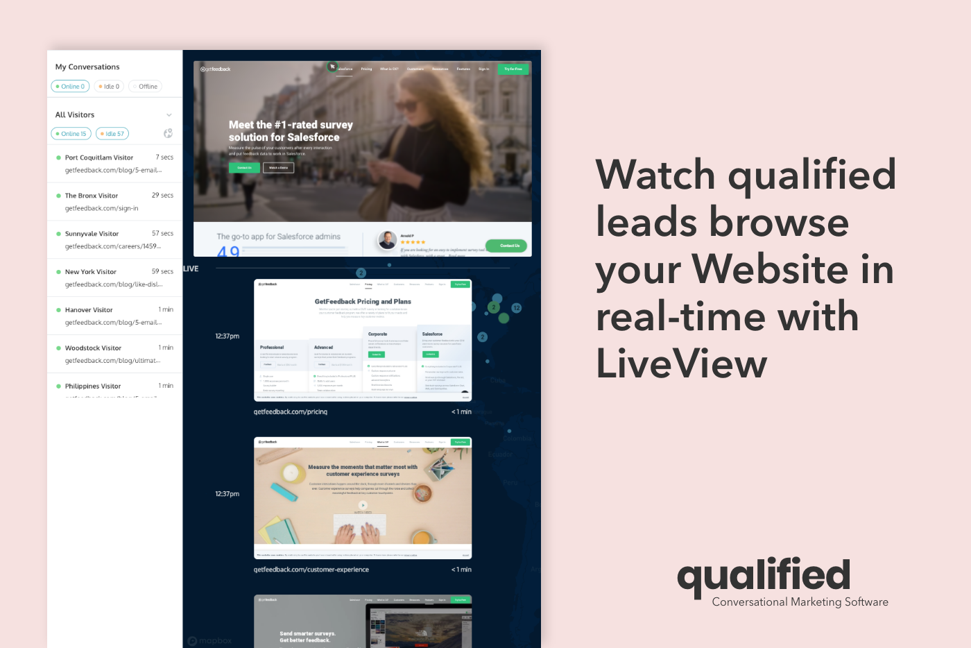 Qualified Demo - LiveView - Watch qualified leads browse your site