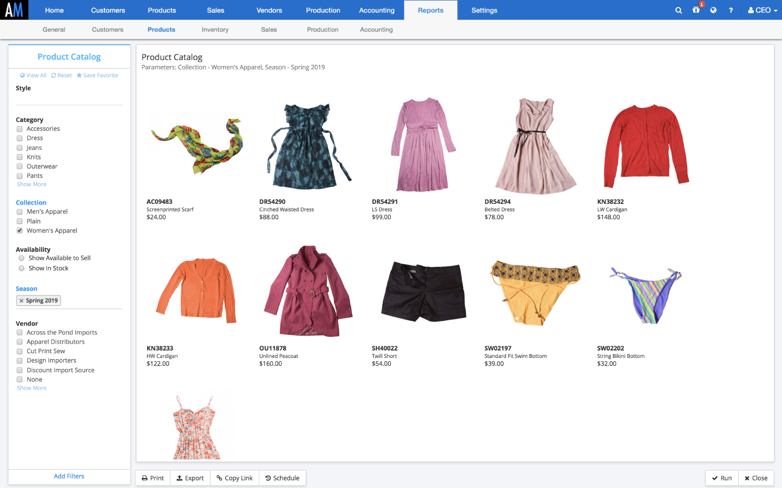 ApparelMagic Demo - Sales & Order Management