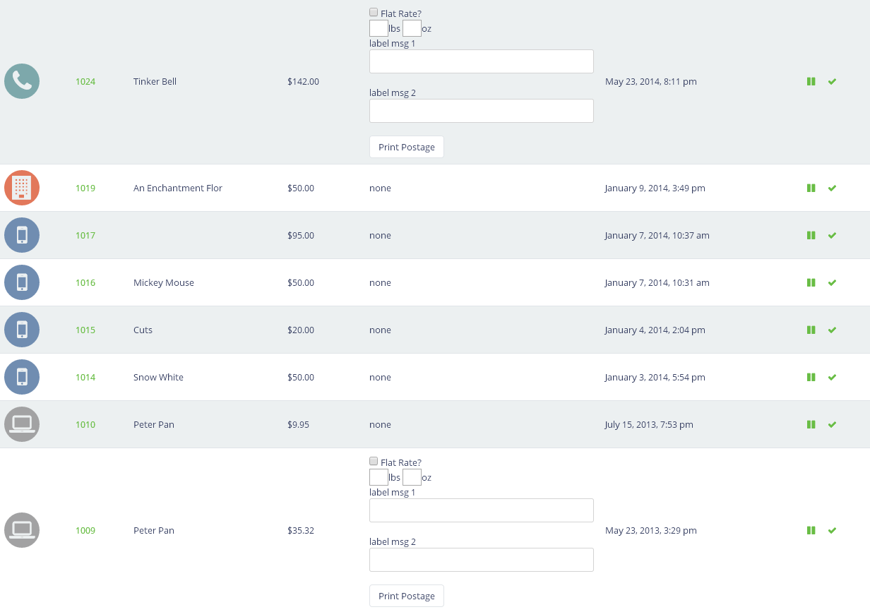 AllProWebTools Demo - AllProWebTools Order Manager