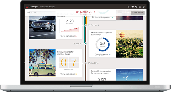 Backbase CXP Demo - Campaign Management Dashboard