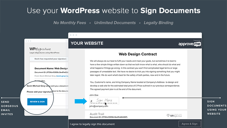 WP Digital E-Signature Demo - Use your Wordpress website to Sign Documents