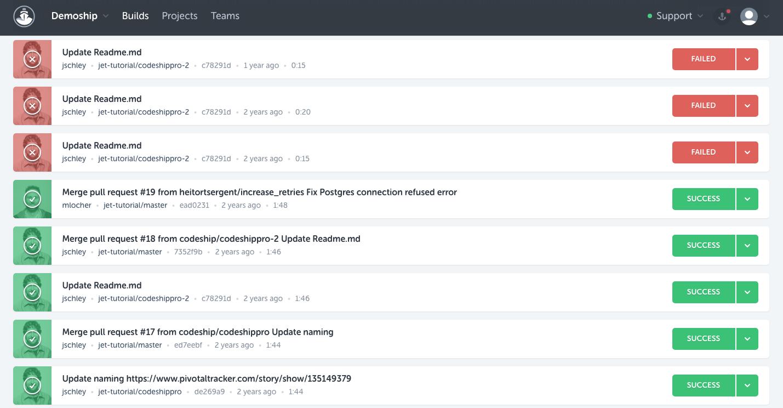 CloudBees CodeShip Demo - Personal Dashboard