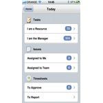 Clarizen Mobile Apps Screenshot