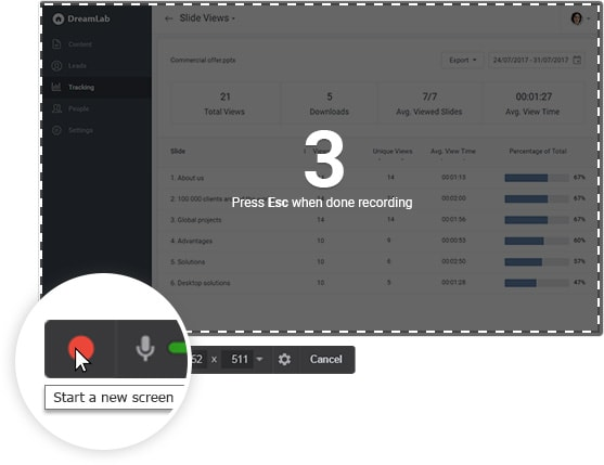Free Cam Demo - Record Your Screen