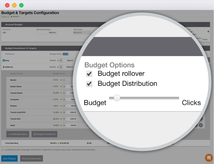 Acquisio Demo - Bid and Budget Management