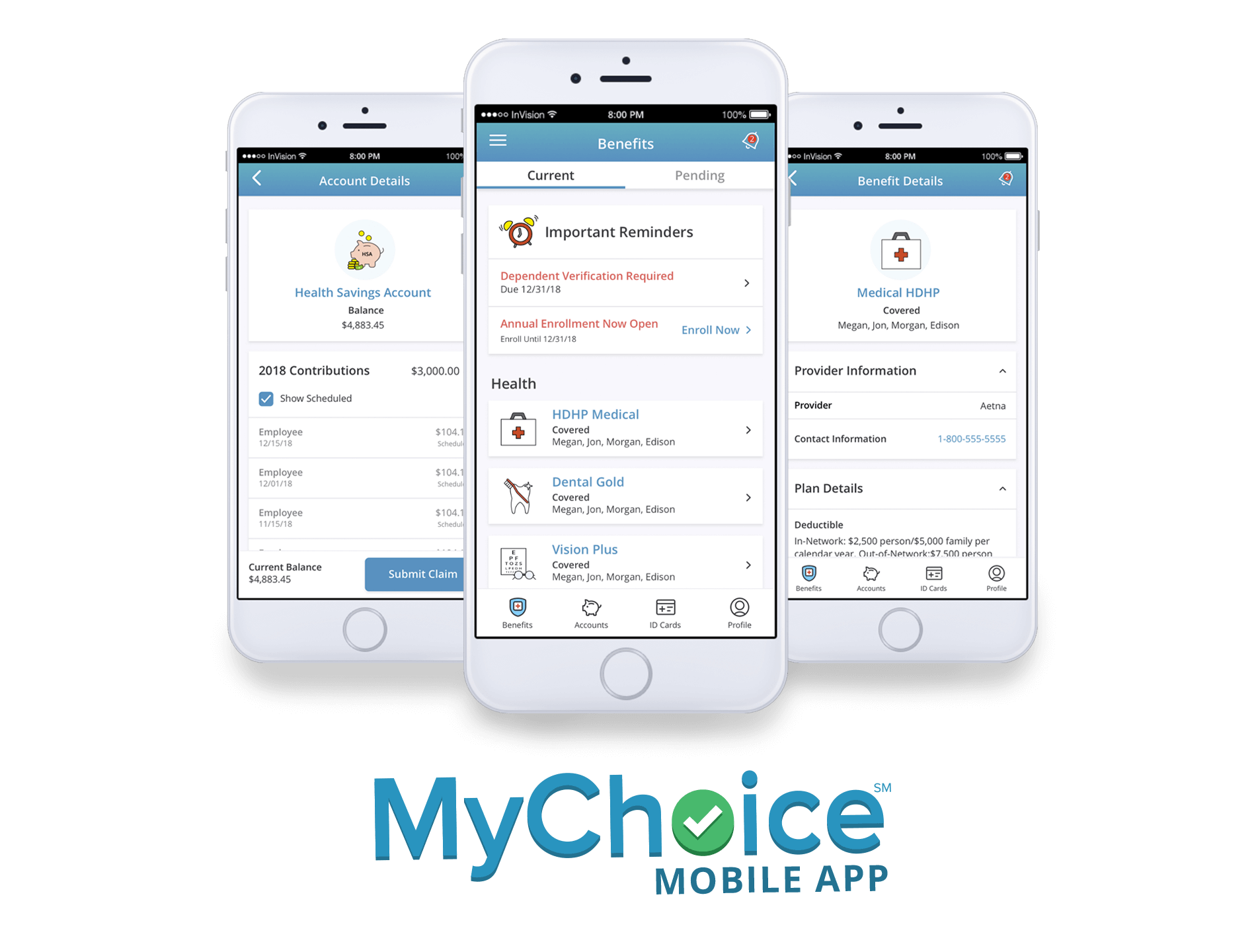 Businessolver Demo - MyChoice Mobile App