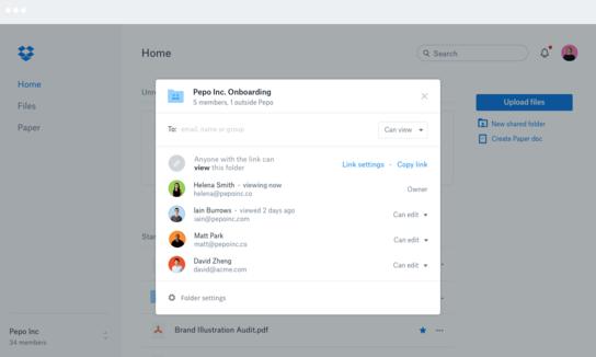 Dropbox Business Demo - Shared Folder