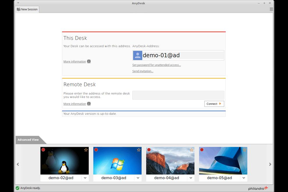 AnyDesk Demo - AnyDesk (Linux)