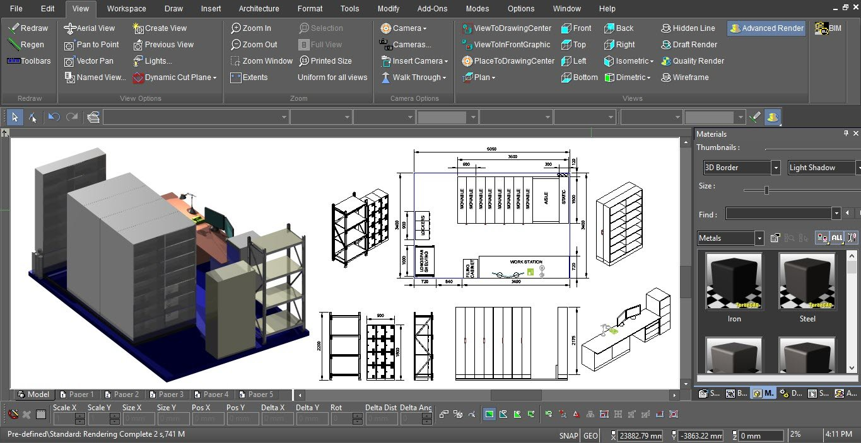 TurboCAD Demo - Modeling of 2D Draft