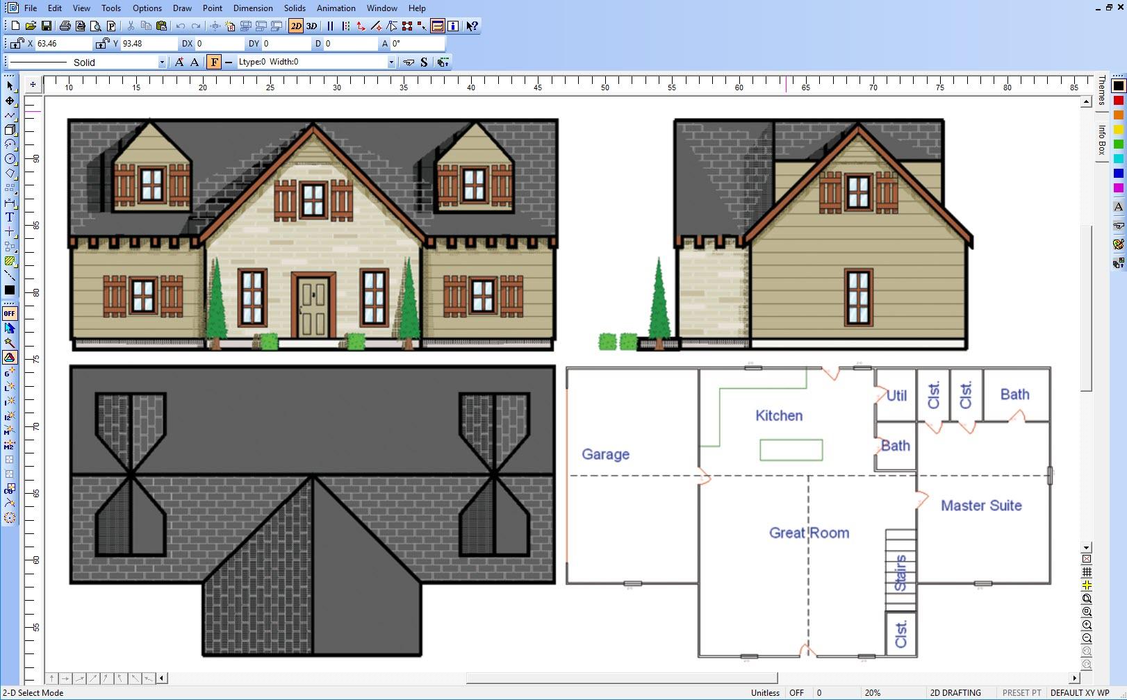 DesignCAD Demo - Floorplan Designing
