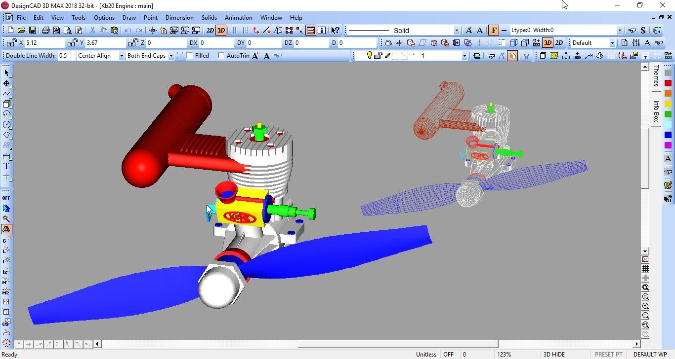 DesignCAD Demo - 3D Modeling