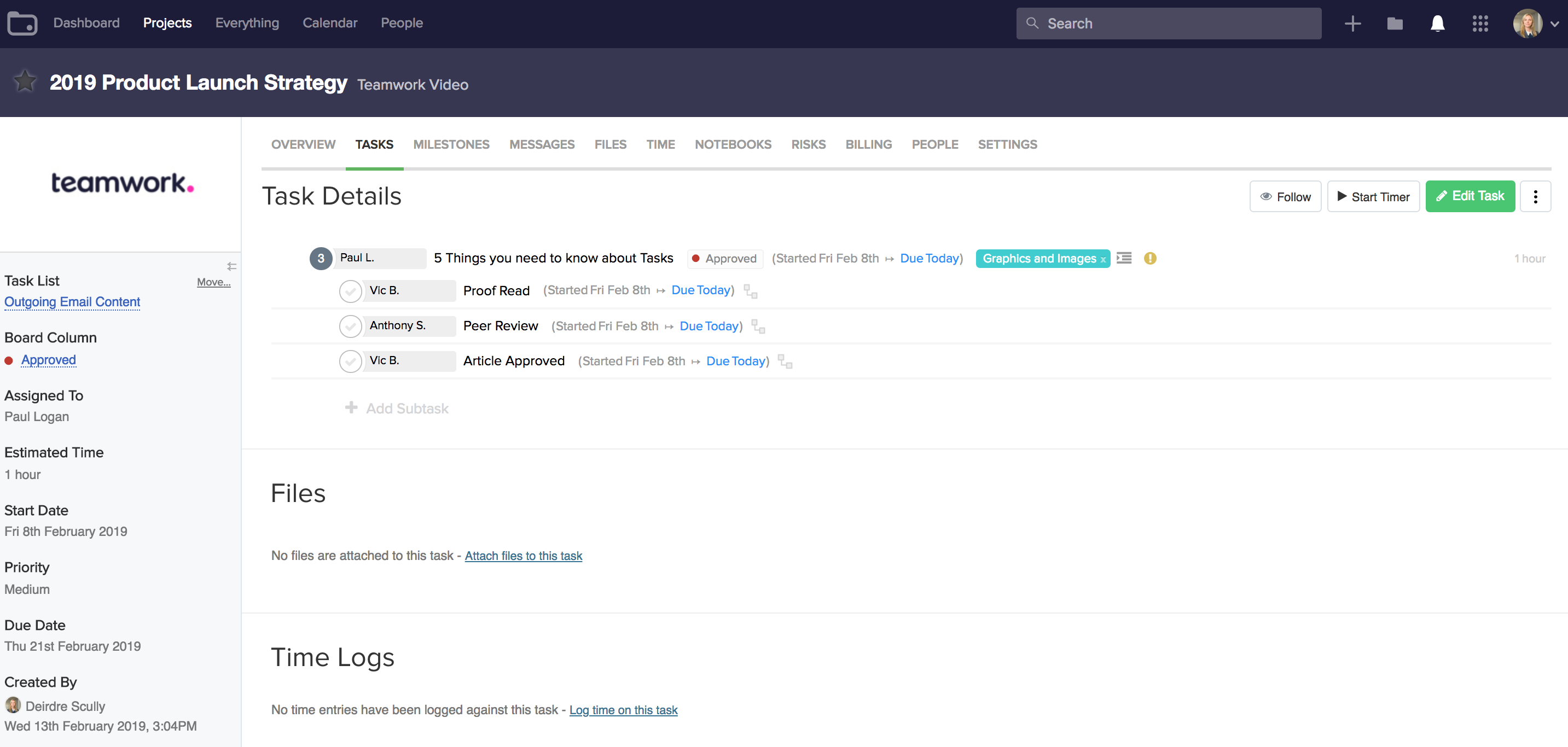 Teamwork Projects Demo - Projects-Subtasks.png
