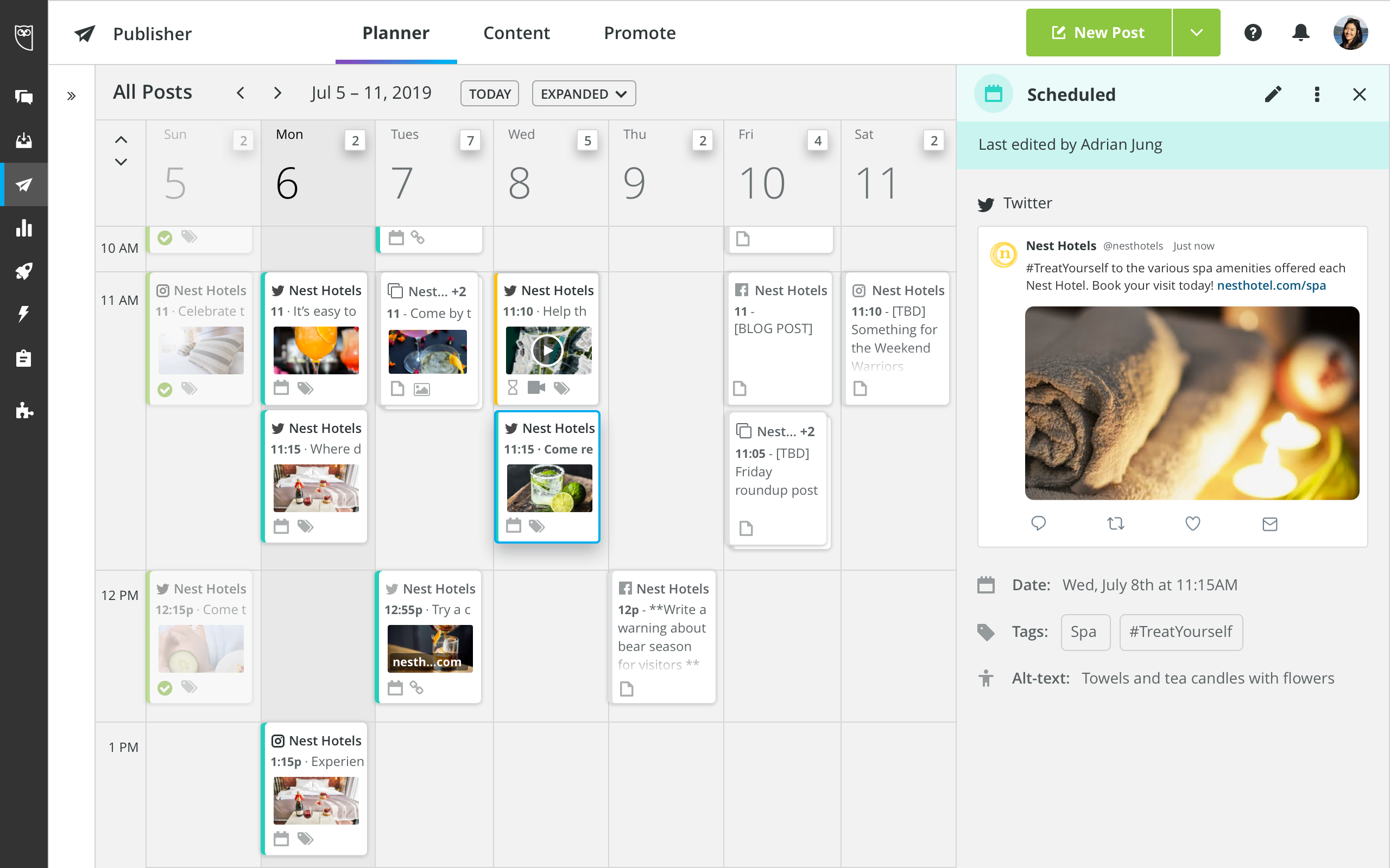 Hootsuite Demo - Scheduling