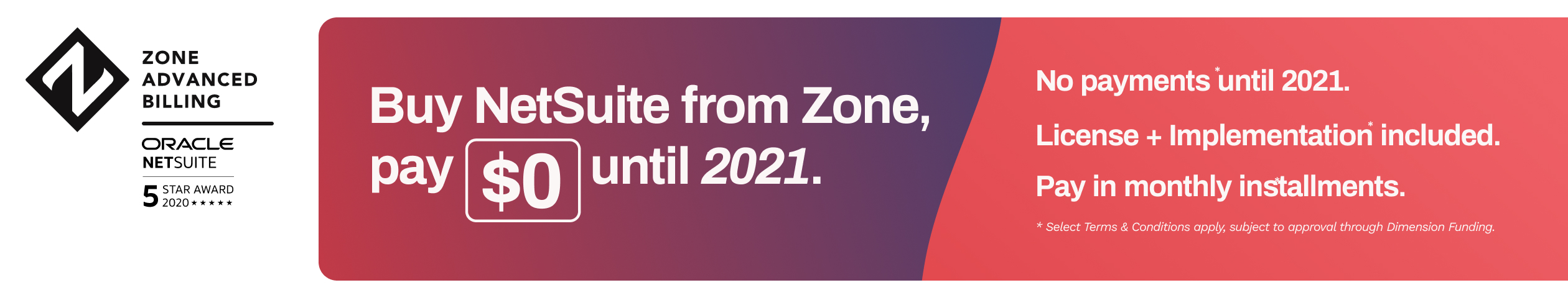 Zone Advanced Billing