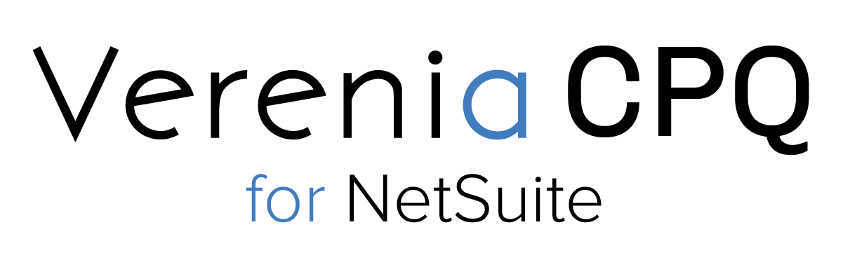 Verenia CPQ for NetSuite